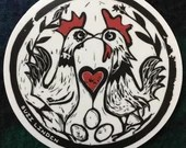 Chicken Eyed Wish vinyl sticker 4""