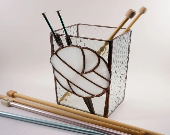 Stained Glass box, Knitti...