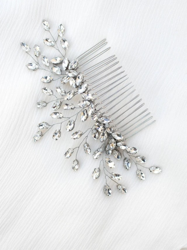"wedding hair accessories, bridal comb, bridal hair accessories, bridal headpiece ~ ""verena"" wedding hair comb in silver, gold or rose gold"