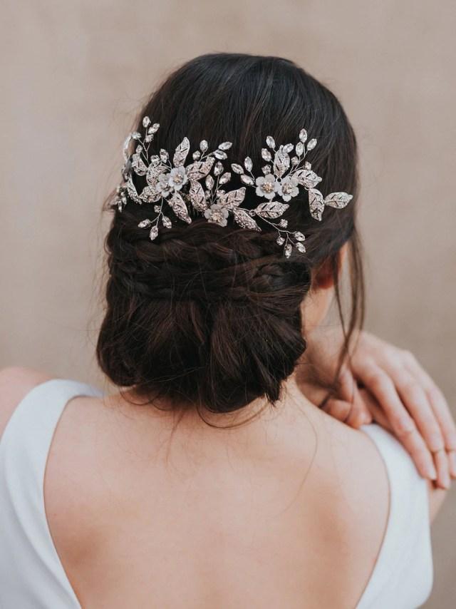 "wedding hair accessories, bridal comb, bridal hair accessories, bridal headpiece ~ ""constance"" large bridal headpiece"