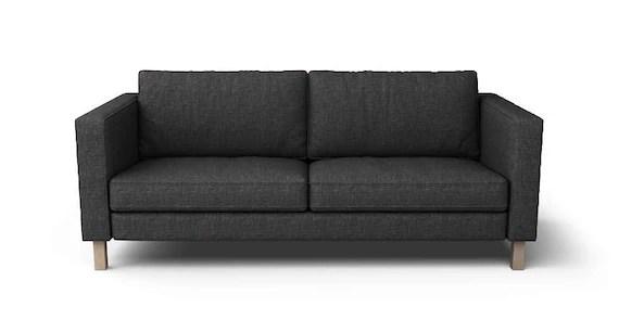 Ikea Karlstad 3 Places Housse Seulement En Nomad Noir En Tissu