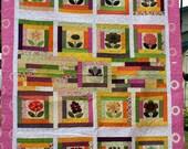 Flower Patches In my GardenQueen Size Quilt