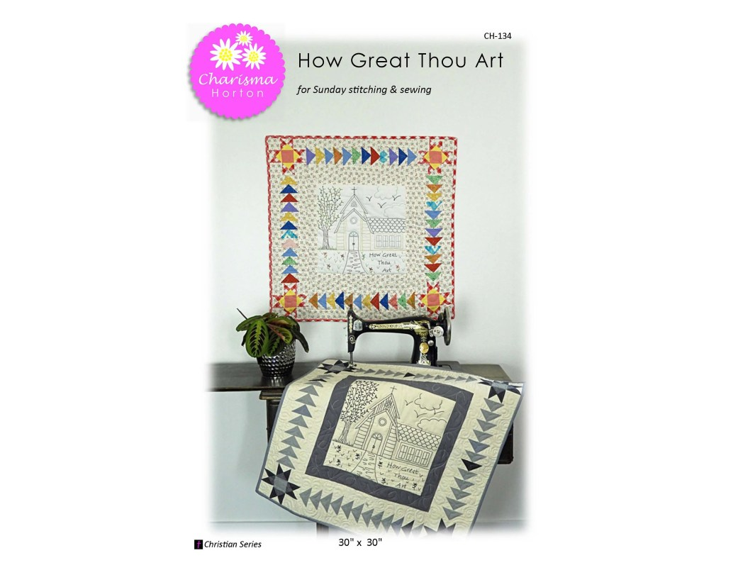 How Great Thou Art Embrodery Paper pattern
