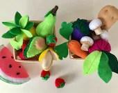 Felt Food   Montessori Toys   Avocado   Waldorf Toys   Fake Food   Plushie   Miniature Food   Food Toy   Birthday Gift   Vegan Gift