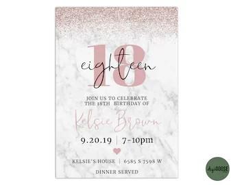 18th birthday invitations etsy