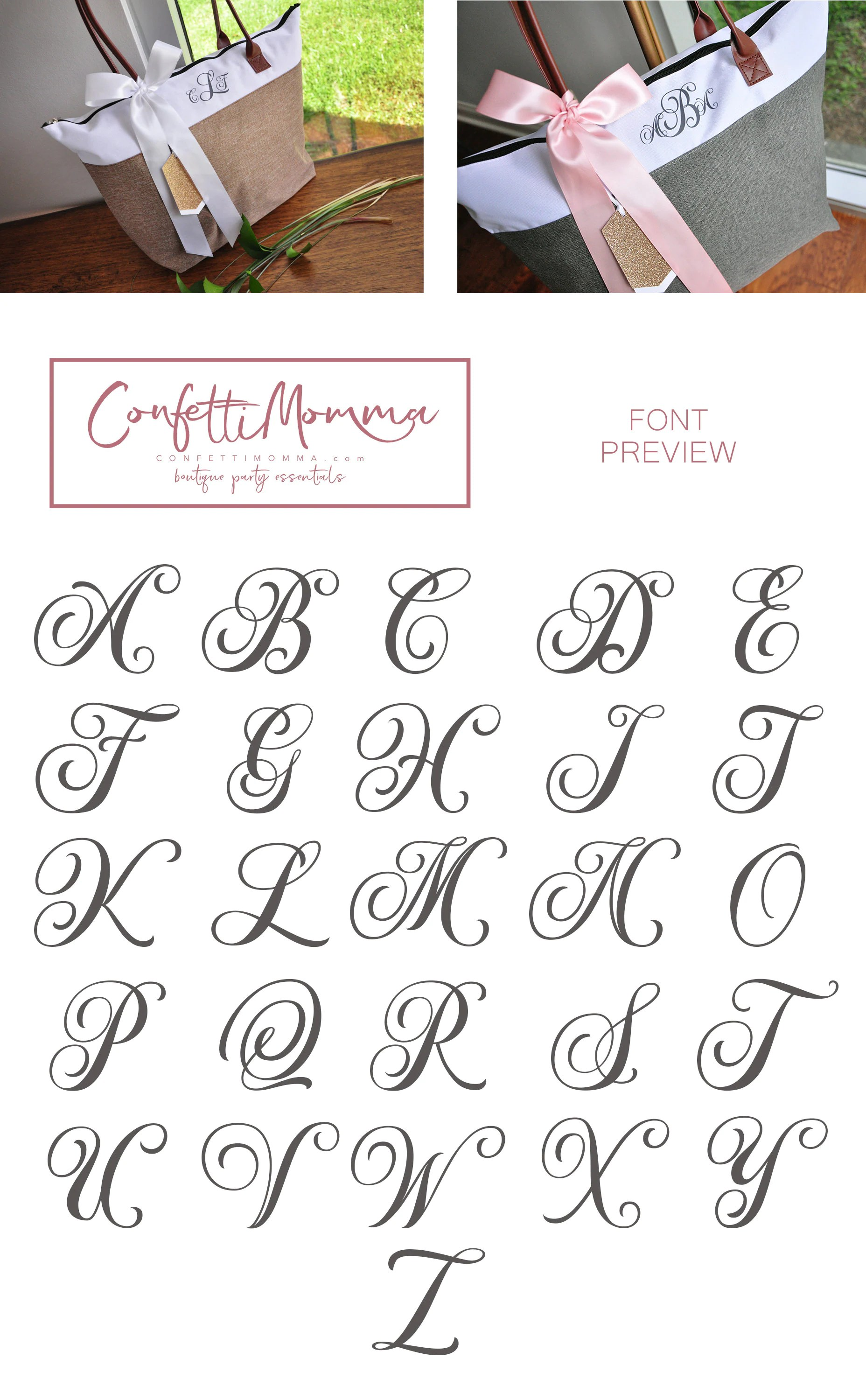 Personalize Tote Bag for Bridesmaids Qty. 1. Monogram Tote image 4