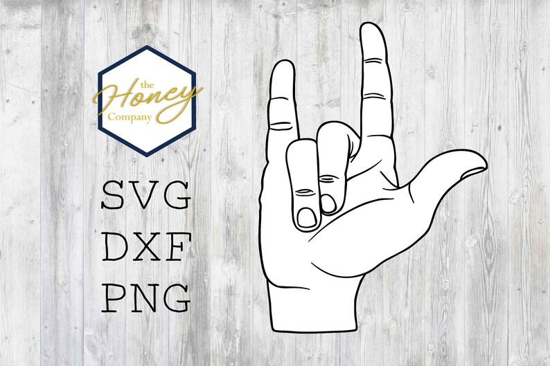 Download I Love You Sign Language SVG PNG DXF Kids Instant Download ...
