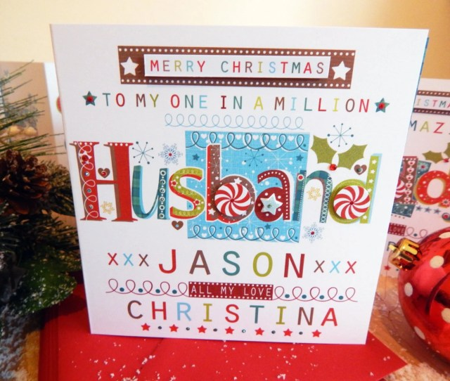 Husband Christmas Card Personalised Christmas Card Husband Special Christmas