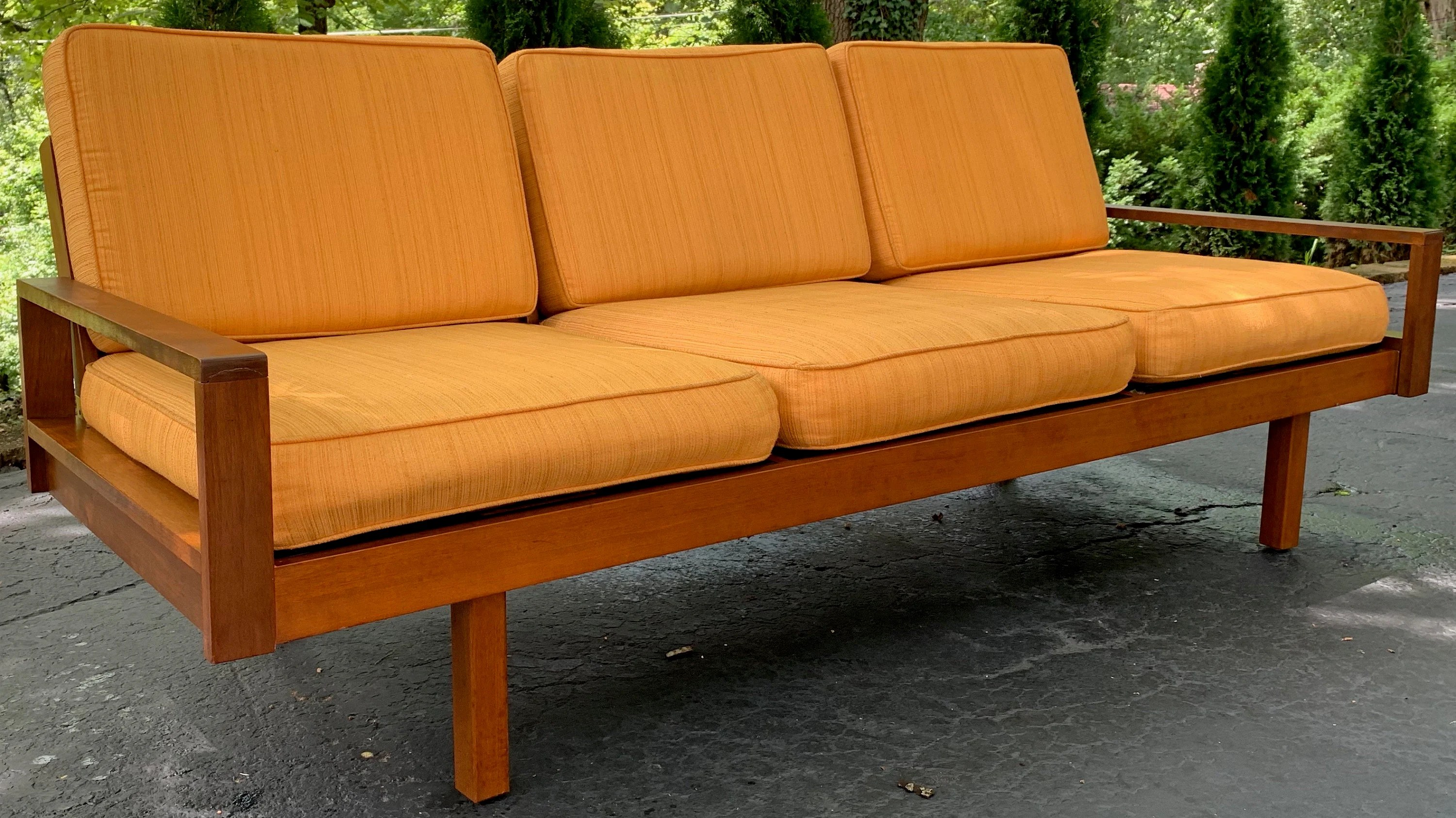 Vintage 50s Sofa Couch Bench By Martin Borenstein For