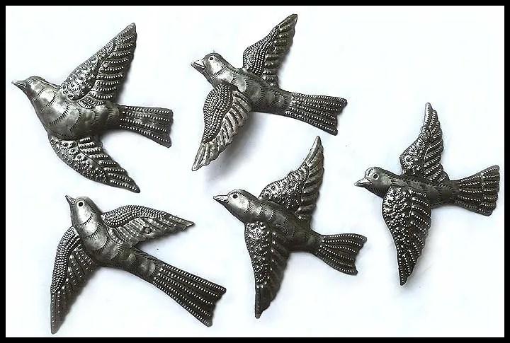 Metal Art, Wall Hanging, Garden Decor, Metal Birds