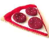 Felt food Pizza slice (pepperoni), play food, felt pizza, toy pizza, felt food pizza, play food felt
