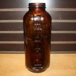 Brown Juice Bottle Glass Water Bottle Vintage Bottle Etsy