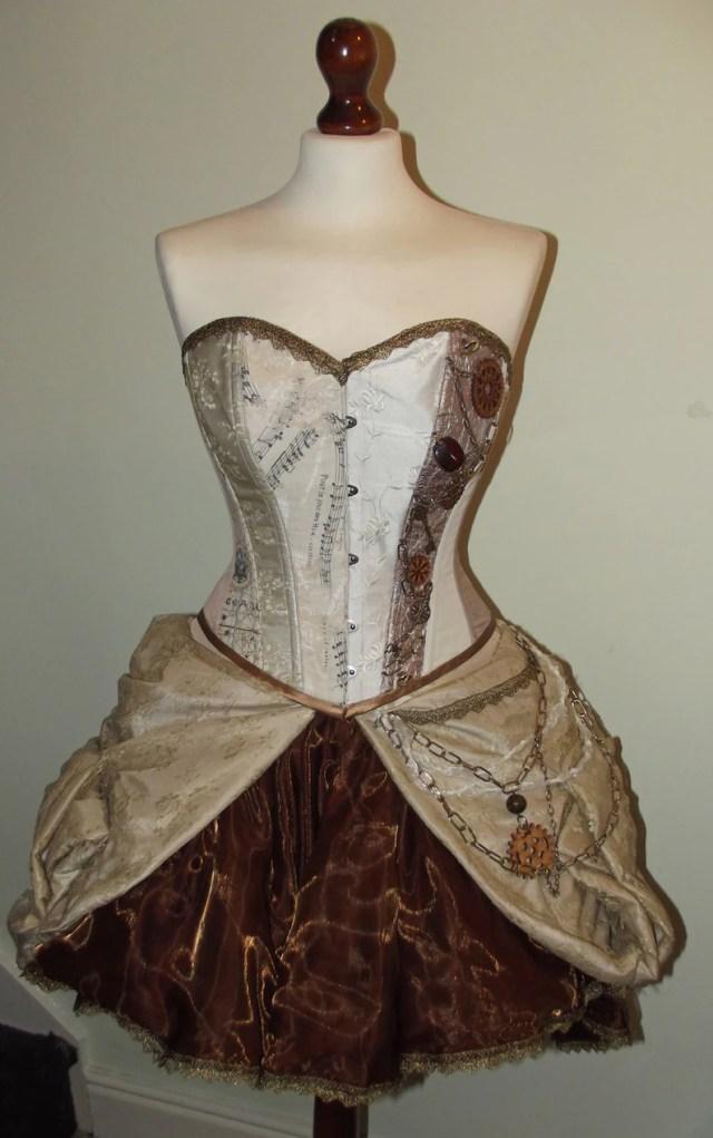 Steampunk wedding dress- steampunk prom dress- alternative wedding dress- Made to measure  22