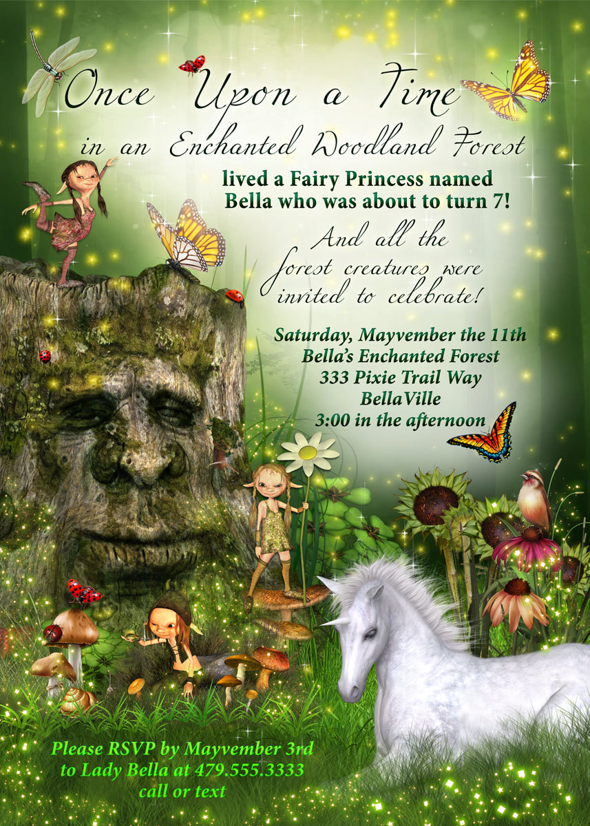 fairy forest unicorn birthday party