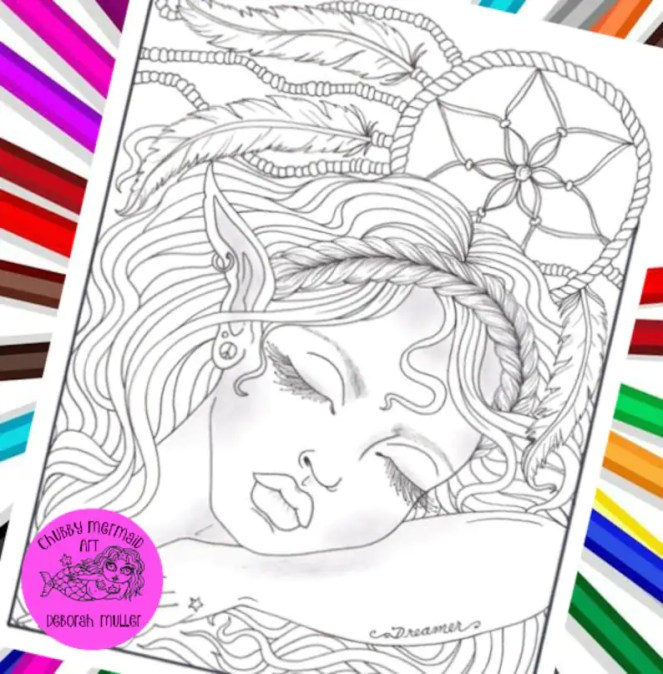 Dreamcatcher Elf coloring page is just too sweet This image 0