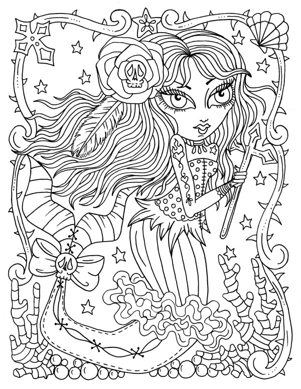 gothic coloring pages # 80