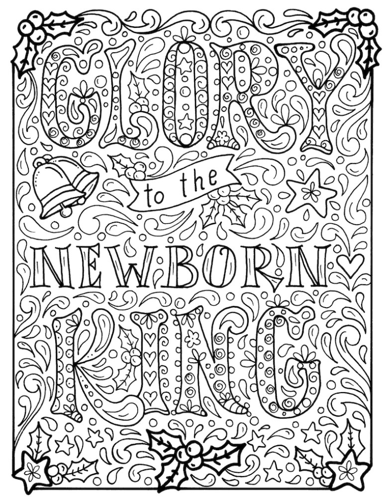 christian christmas coloring page church scripture bible | etsy