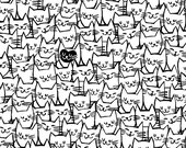 "Packed Happy Cats from Windham Fabrics-108"" Quilt Backing"