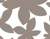 Lotta Jansdotter Fabric - Glimma - Large Flowers in Taupe