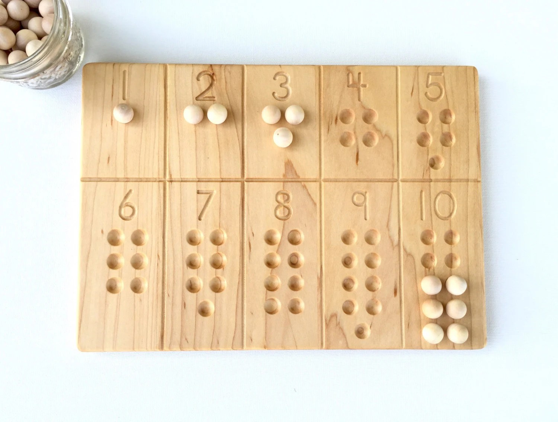 1 10 Number Board Waldorf Montessori School Toy