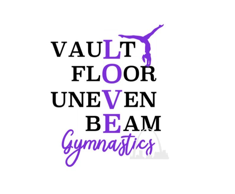 Download Gymnastics Love vault floor uneven bars beam svg cut file ...