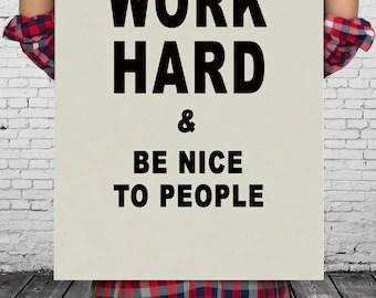 work hard poster etsy