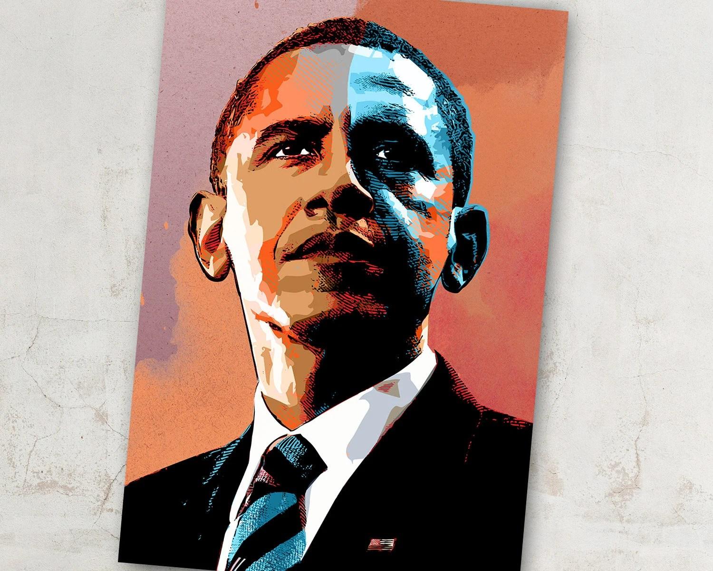 barack obama us president art barack obama poster president art barack obama portrait barack obama print americana decor