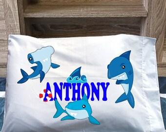 shark pillowcase etsy