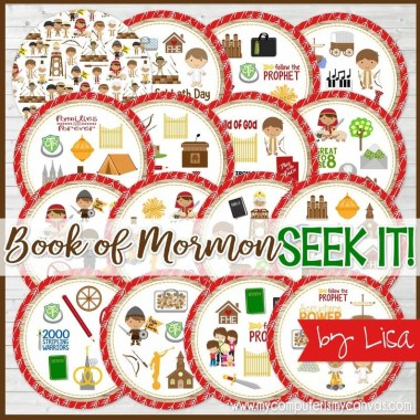 How to Enjoy General Conference with Kids featured by top LDS Primary activity store, Come Follow Me FHE: Book of Mormon SEEK IT Match Game Primary Printables Family image 0