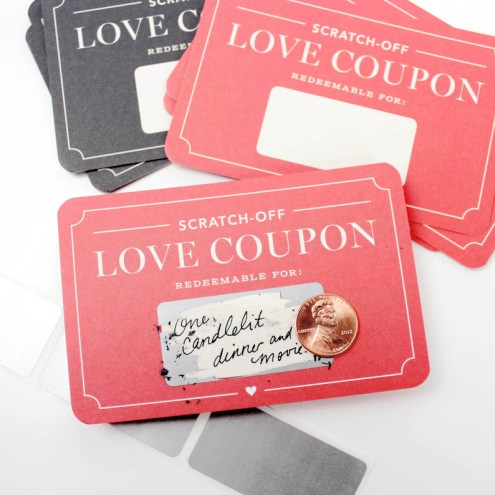 Scratch-off Love Coupons // DIY Valentines unique valentines image 0
