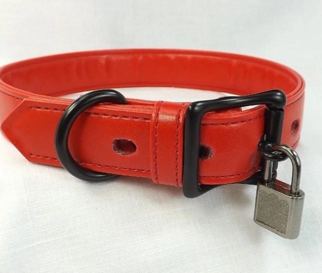 Locking Collar Red Leather Collar Locking Slave Collar Mature Submissive Collar Bdsm Collar Fetish Collar Bondage Collar Pinchthemuse Choker