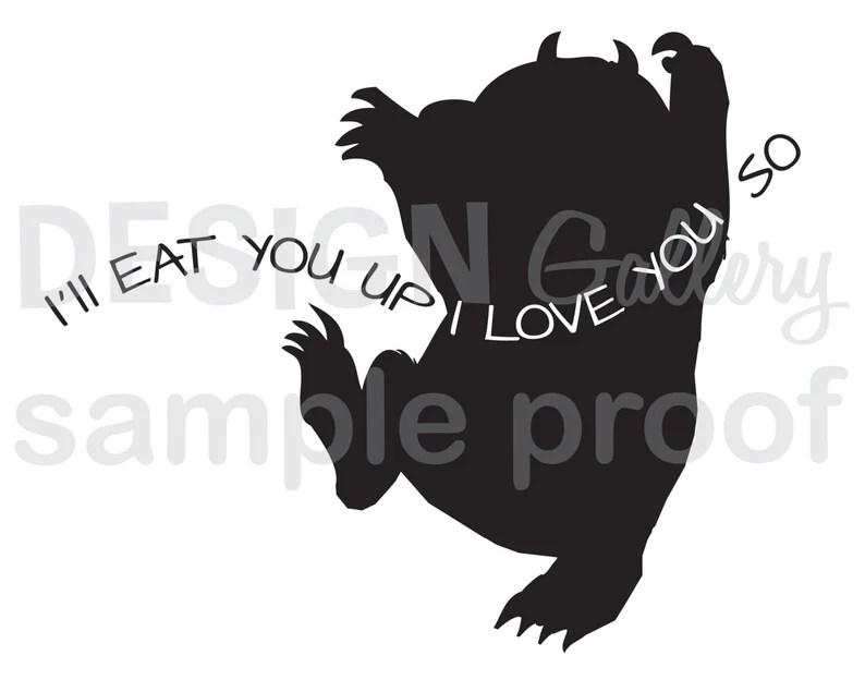 Download I'll Eat You Up I Love You So JPG image & SVG cut   Etsy