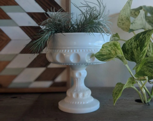 Vintage White milk glass ...