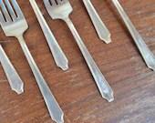 Silver-Plate Salad Forks....