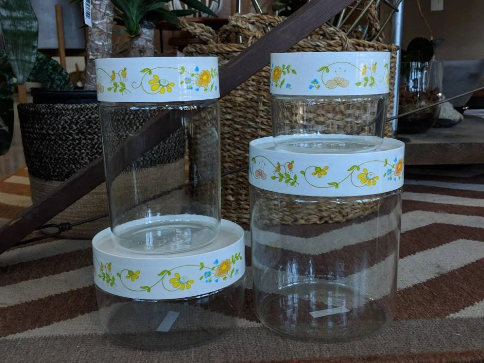 Wildflower Pyrex Canister...