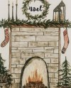 Fireplace Painting Etsy