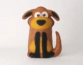 Dog Stuffed Animal Sewing Pattern, Stuffed Dog Felt Plushie Pattern, Dog Softie Pattern, Plush Dog Pattern, Easy Sewing Pattern for a Dog