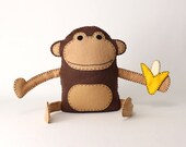 Felt Monkey Sewing Patter...
