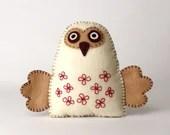 Felt Owl Sewing Pattern, Stuffed Owl Hand Sewing Pattern, Woodland Owl, Barn Owl Softie, Plush Owl Decor, Felt Owl Stuffie, Embroidered Owl