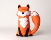 Felt Fox Pattern, Stuffed Fox Hand Sewing Plushie Pattern, Woodland Fox Softie Sewing Pattern, Instant Download PDF, Sew a Felt Fox PDF