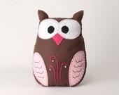 Stuffed Owl Sewing Pattern, Felt Owl Plush Softie, Woodland Owl Pattern, Owl Plushie, Owl Stuffie, Instant Download PDF, Sew a Cute Owl