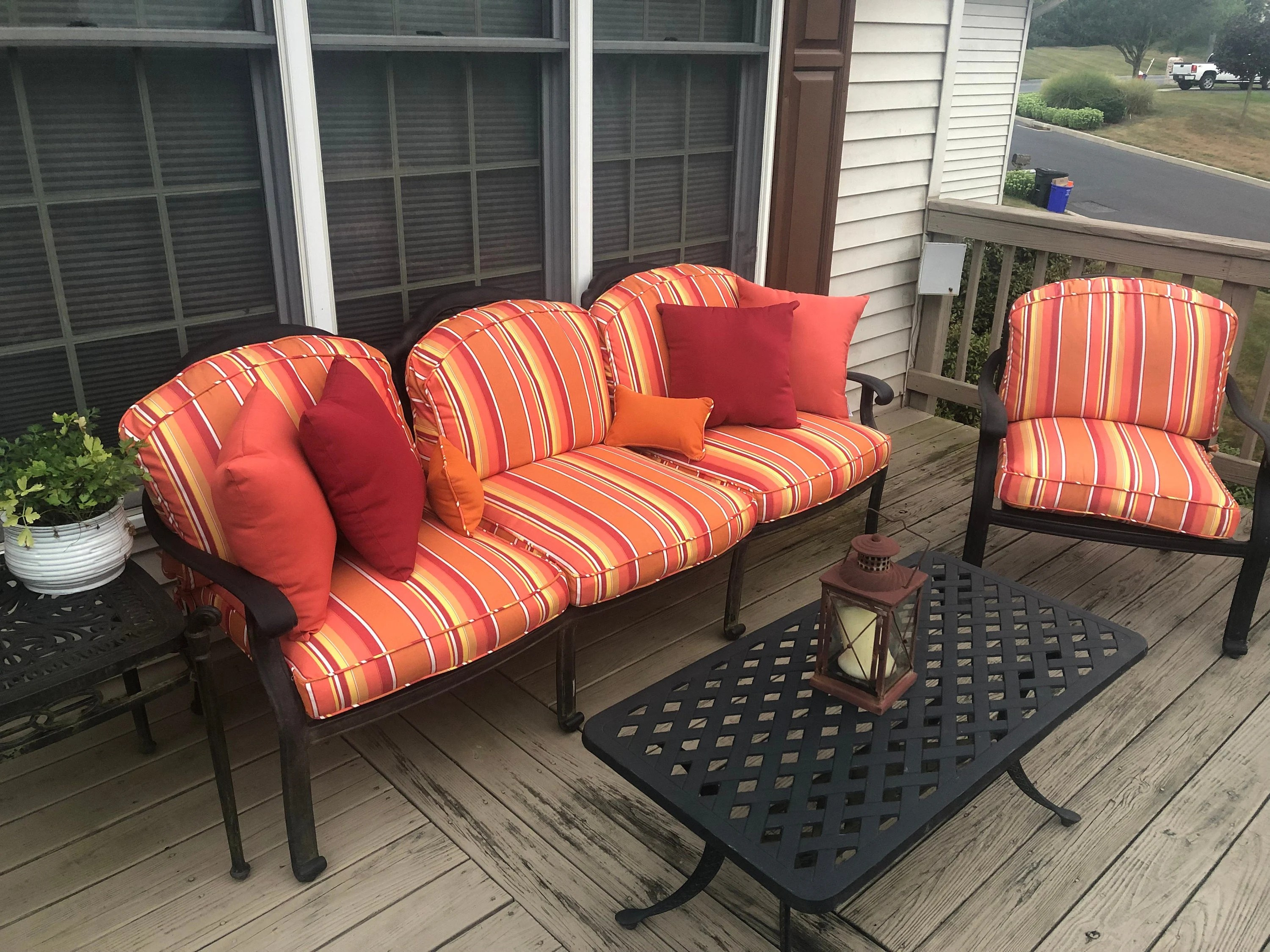custom outdoor patio furniture replacement cushion covers with etsy