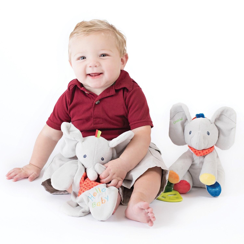 Personalized Elephant Lovey/Puppet image 1