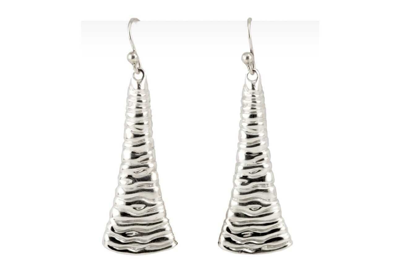 Shiny Dangle Earrings Liquid Silver Earrings Liquid Metal