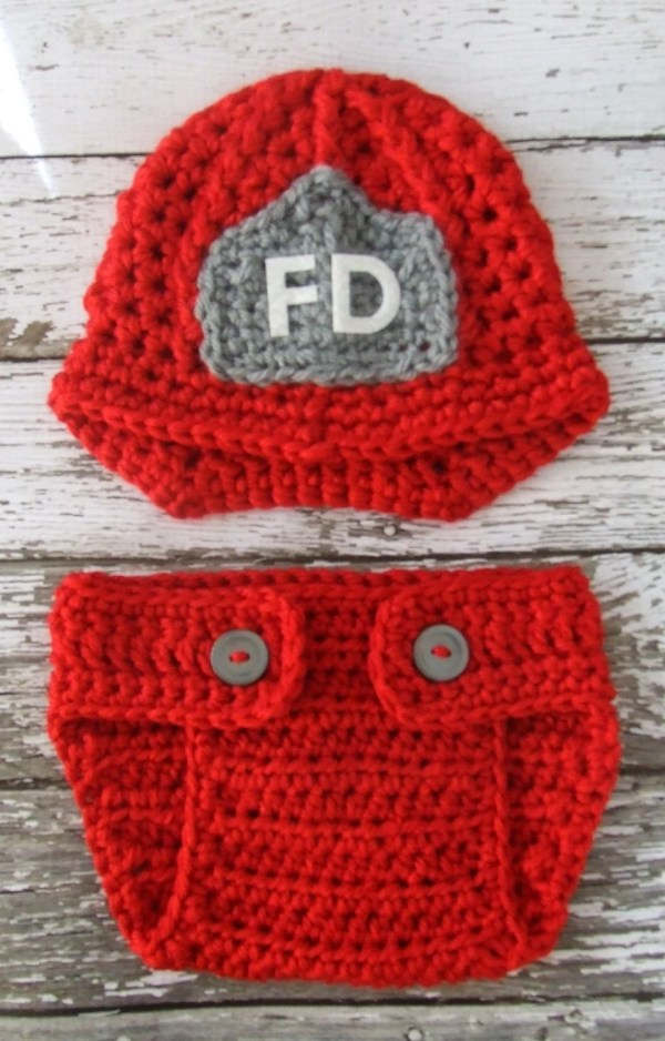 Firefighter Helmet in Red Gray and White With Matching ...