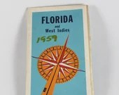 1959 Florida and West Indies Vintage Map from American Automobile Association