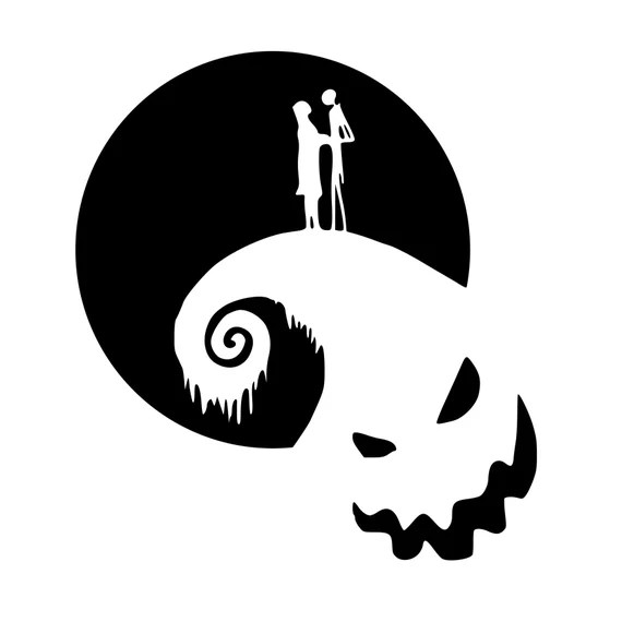 Download Nightmare Before Christmas SVG or Silhouette Instant ...