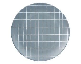 plaque de bambou gris grille et bleu 2eme choix