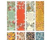 Floral Hymn Bookmarks set...