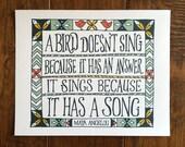 A bird doesn't sing -...